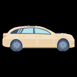 Sedan car side view flat