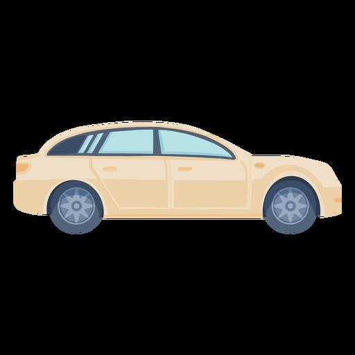 Vista lateral del coche sedán plana Transparent PNG