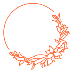 Halbkreisförmiger Ornamentrahmen Vinyl