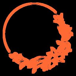 Semi circular ornament frame vinyl