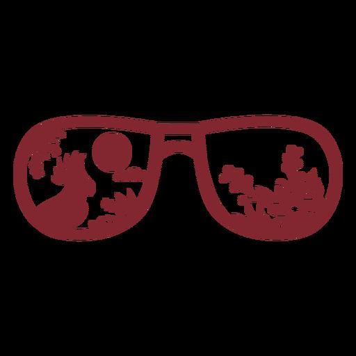 Gafas de sol tipo escudo plano pájaro tropical Transparent PNG