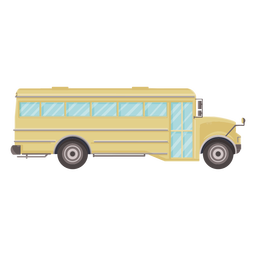 Side view school bus flat icon