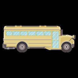 Vista lateral icono plano de autobús escolar