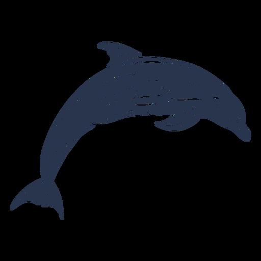Mamífero acuático silueta delfín