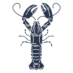 Silhouette lobster animal