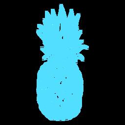 Frutas tropicais de abacaxi silhueta