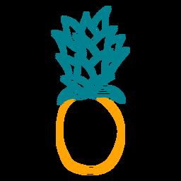 Desenho simples de abacaxi desenhado à mão