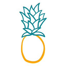 Simple pineapple figure hand drawn design