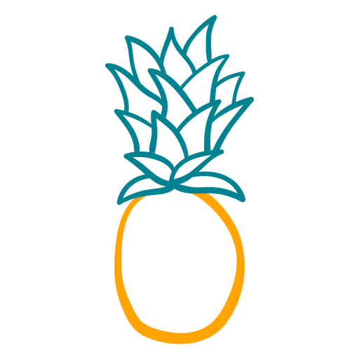 Simple pineapple figure hand drawn design Transparent PNG