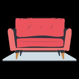 Sofá de asiento individual plano