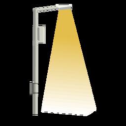Plano de acera de columna de calle de luz única
