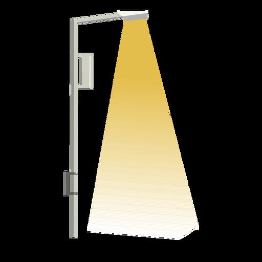 Single light street column sidewalk flat