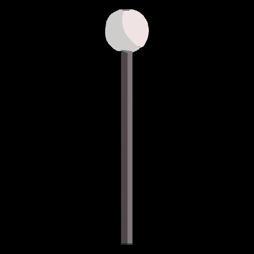 Lámpara de poste simple redondeada plana