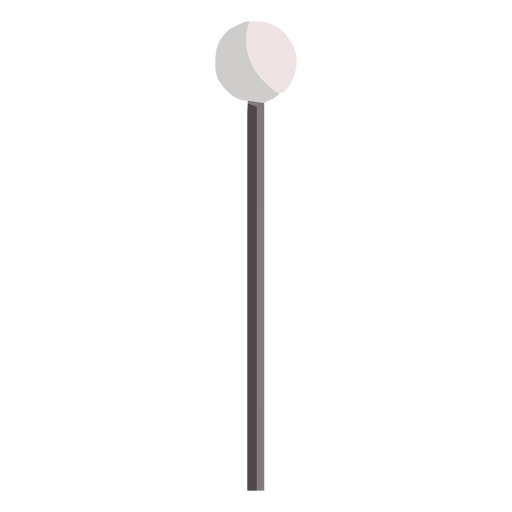 Single rounded post lamp flat