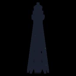 Edificio de acero de silueta de faro esquelético
