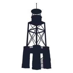 Skeletal lighthouse silhouette top