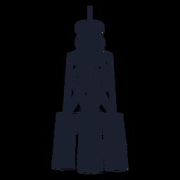 Skelett Leuchtturm Silhouette oben