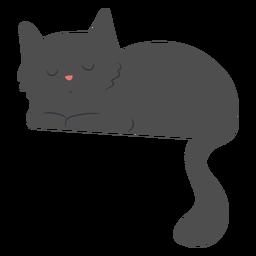Schläfrige Katze flach