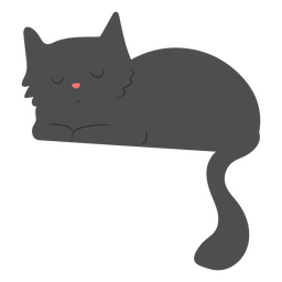 Sleepy cat flat