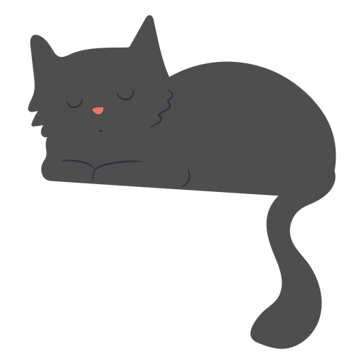 Sleepy cat flat Transparent PNG