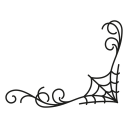 Diseño de halloween de encaje de tela de araña