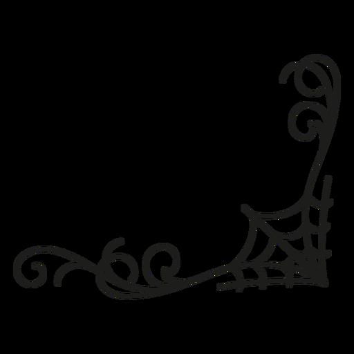 Desenho de dia das bruxas em teia de aranha