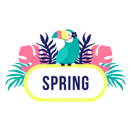 Spring title frame jungle design