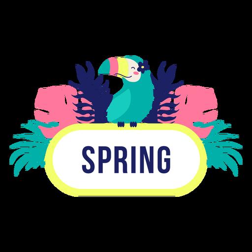 Spring title frame jungle design