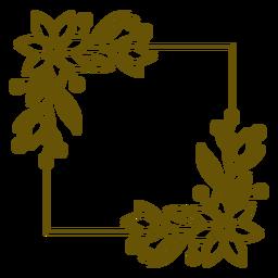 Square frame botanic stroke