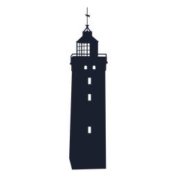 Desenho de silhueta de farol quadrado