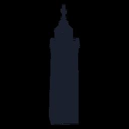 Diseño de silueta de faro cuadrado