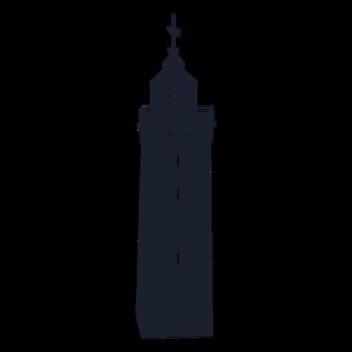 Square lighthouse silhouette design