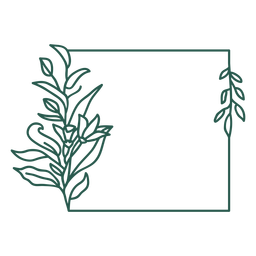 Square ornament leafy vinyl design