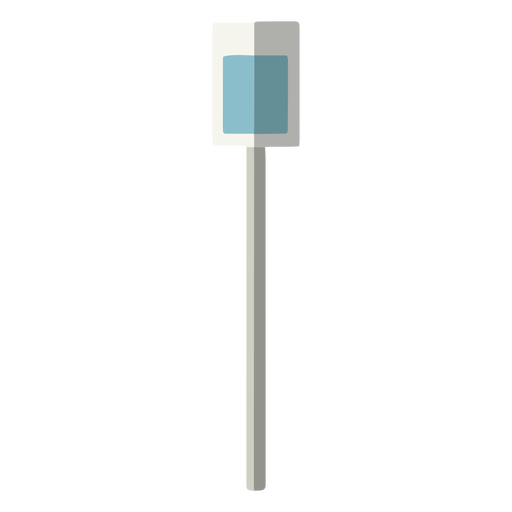 Street sign front view shadow column flat