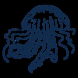 Trazo medusa animales del océano