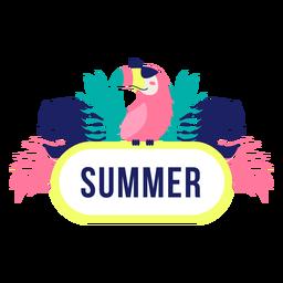 Quadro de título de design de selva de verão
