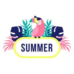 Summer jungle design title frame