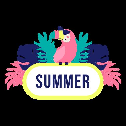 Marco de título de diseño de selva de verano