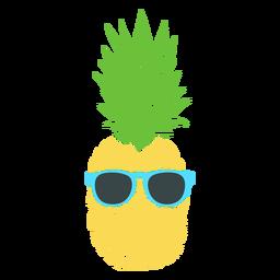 Óculos de sol na silhueta realista de abacaxi