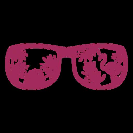 Sunglasses tropical design flat flamingo