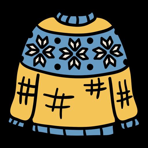 Suéter ropa dibujada a mano.