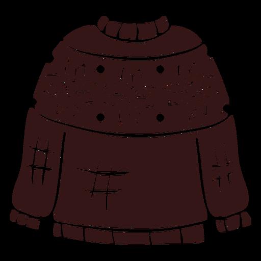 Diseño de ropa de invierno suéter.