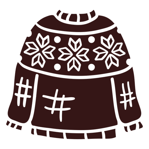 Sweater winter clothing design Transparent PNG
