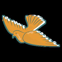 Swooping dove badge