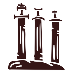 Swords in stone viking style