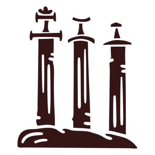 Espadas en piedra estilo vikingo Transparent PNG