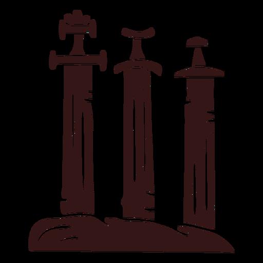 Swords in stone viking style