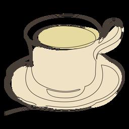 Tea cup saucer stroke