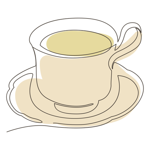 Tea cup saucer stroke Transparent PNG