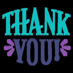 Cartão de exclamação de citação de agradecimento